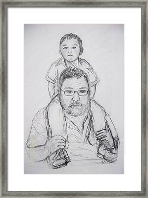 Daddy's Boy Framed Print by Wale Adeoye
