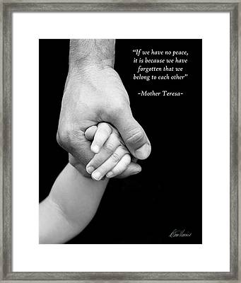 Daddy's Hand Framed Print