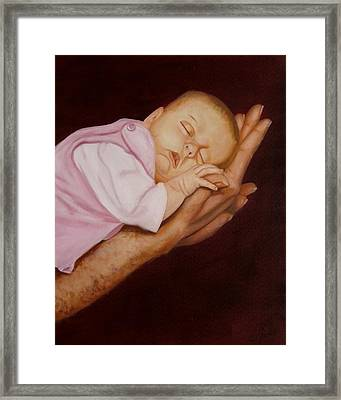 Framed Print featuring the painting Daddy's Little Girl by Joni McPherson
