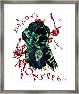 Daddy's Little Monster Invert Framed Print