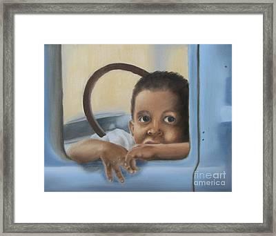Daddy's Truck Framed Print by Annemeet Hasidi- van der Leij