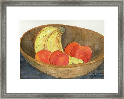 Daddy's Wooden Bowl Framed Print