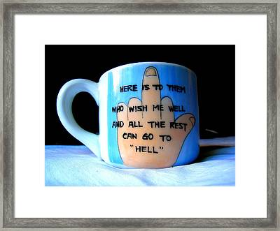 Dads Cup  Framed Print by John King