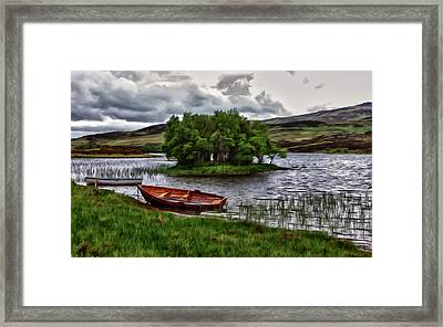 Framed Print featuring the painting Dads Fishing Spot P D P by David Dehner