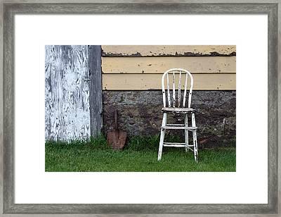 Dads High Chair Framed Print by Lauri Novak