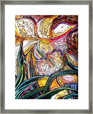 Daffodil Delirium Framed Print by Mindy Newman