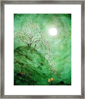 Daffodil Dream Meditation Framed Print