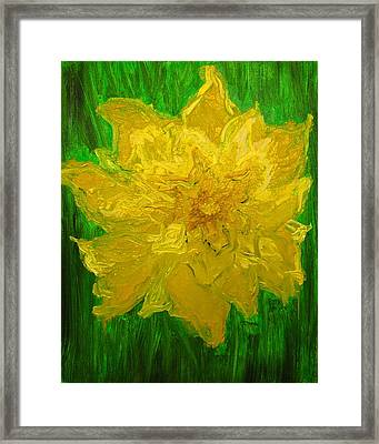 Framed Print featuring the painting Daffodil by Evelina Popilian