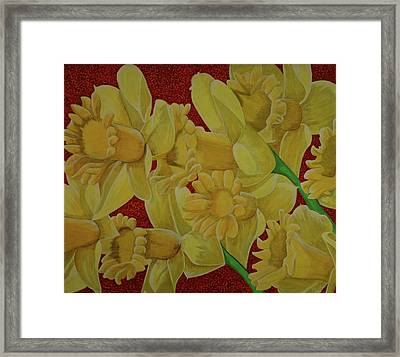 Framed Print featuring the painting Daffodil Grandiflora by Paul Amaranto