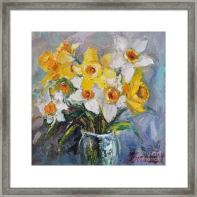 Daffodil In Spring  Framed Print by Jennifer Beaudet