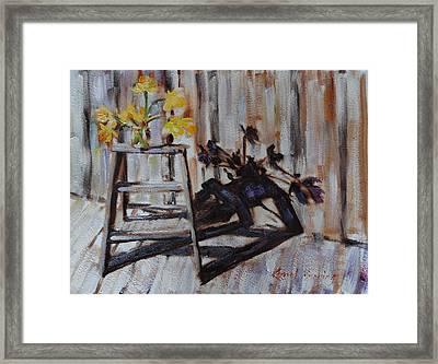 Daffodil Shadows Framed Print