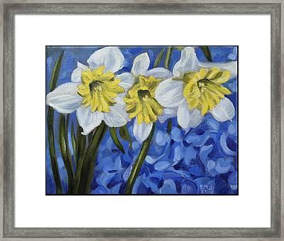 Daffodils Framed Print by Edward Williams