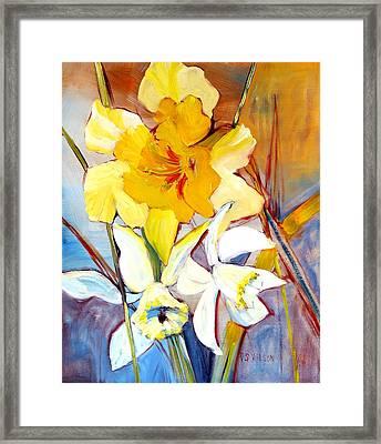 Daffodils Framed Print by Peggy Wilson