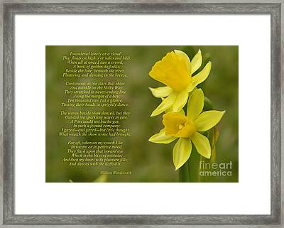 Daffodils Poem By William Wordsworth Framed Print