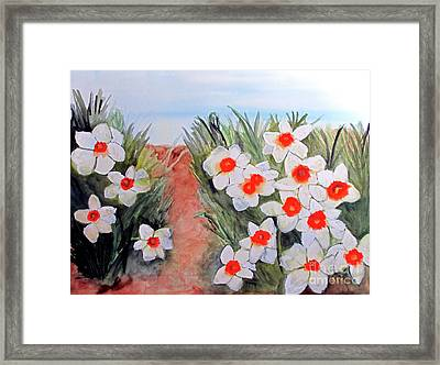 Framed Print featuring the painting Daffodils by Sandy McIntire