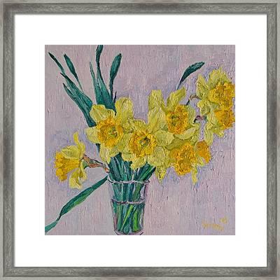 Daffodils Framed Print by Vitali Komarov