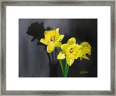 Daffodil's Yellows Framed Print by LaVonne Hand