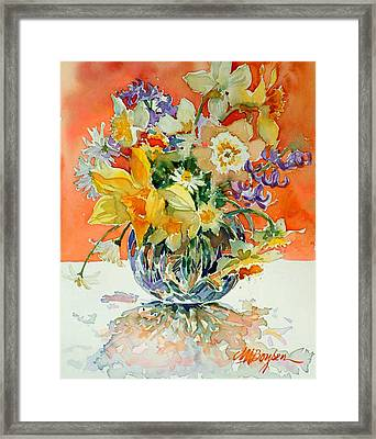Daffs And Daisies Framed Print