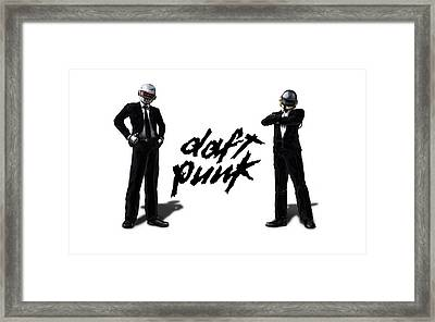 Daft Punk - 132 Framed Print by Jovemini ART