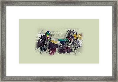 Daft Punk Painting - 445 Framed Print by Jovemini ART