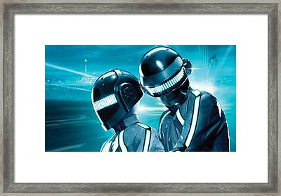 Daft Punk - 98 Framed Print by Jovemini ART