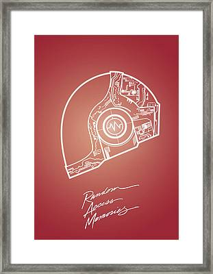 Daft Punk Guy Manuel Poster Random Access Memories Digital Illustration Print Framed Print by Lautstarke Studio