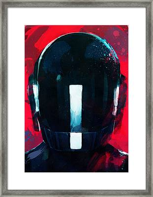 Daft Punk II Framed Print by Mortimer Twang