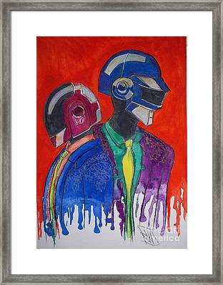 Daft Punk Framed Print by Jose Hau
