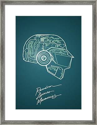 Daft Punk Thomas Poster Random Access Memories Digital Illustration Print Framed Print by Lautstarke Studio