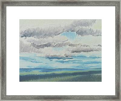 Dagrar Over Salenfjallen- Shifting Daylight Over Distant Horizon 8 Of 10_0029 Framed Print