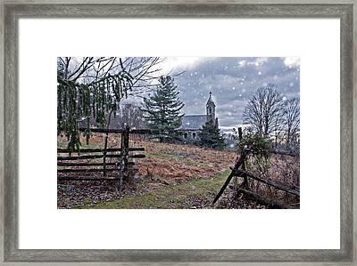Dahlgren Chapel Winter Scene Framed Print