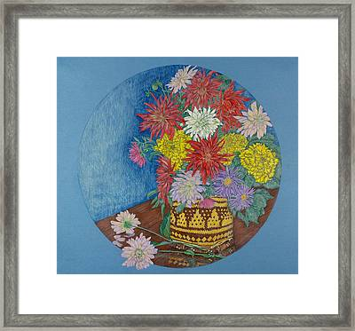 Dahlias Framed Print by Catherine ONeil