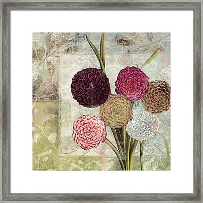 Dahlias For Donna I Framed Print by Mindy Sommers