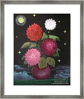 Dahlias On Earth Framed Print