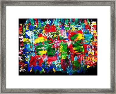 .....dah...trip........wow... Framed Print by Adolfo hector Penas alvarado