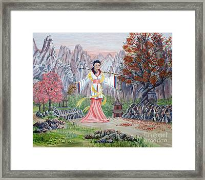 Framed Print featuring the painting Dai Yuu by Anthony Lyon