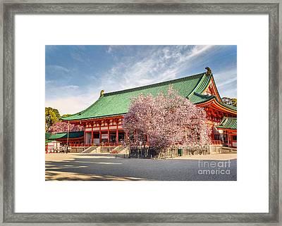 Daigukuden Main Hall Of Heian Jingu Shrine Framed Print