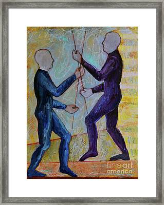 Daily Balancing Framed Print by Priti Lathia