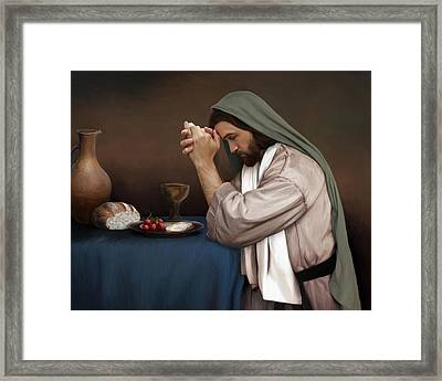 Daily Bread Framed Print by Brent Borup