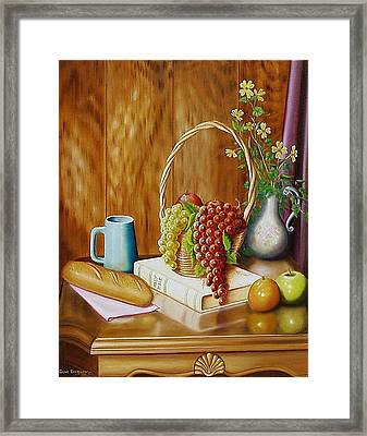 Framed Print featuring the painting Daily Bread by Gene Gregory