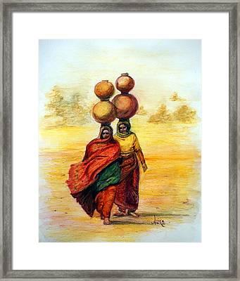 Daily Desert Dance Framed Print by Alika Kumar