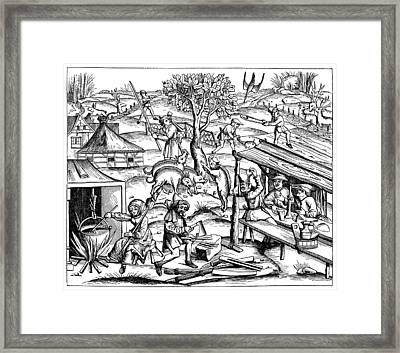 Daily Life: France, 1517 Framed Print by Granger