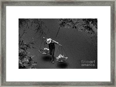 Daily Life Iv Framed Print by Chuck Kuhn