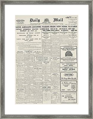 Daily Mail, 1927 Framed Print