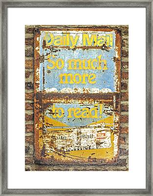 Daily Mail....vintage Sign Framed Print by Hal Halli