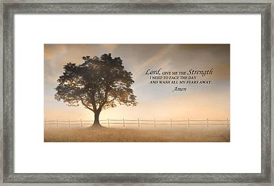 Daily Prayer Framed Print by Lori Deiter