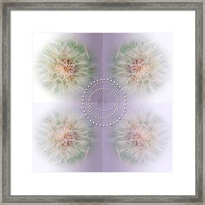 Dainty Dandelions Collage Framed Print by Tina M Wenger