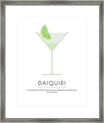Daiquiri Classic Cocktail Minimalist Print Framed Print