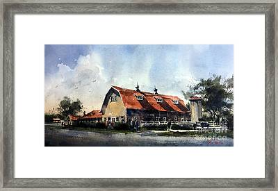 Dairy Barn At Texas Technological College Framed Print
