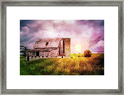 Dairy Country Framed Print by Debra and Dave Vanderlaan